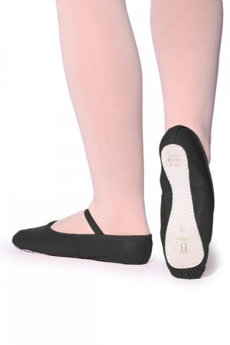 Ophelia full sole leather ballet shoe